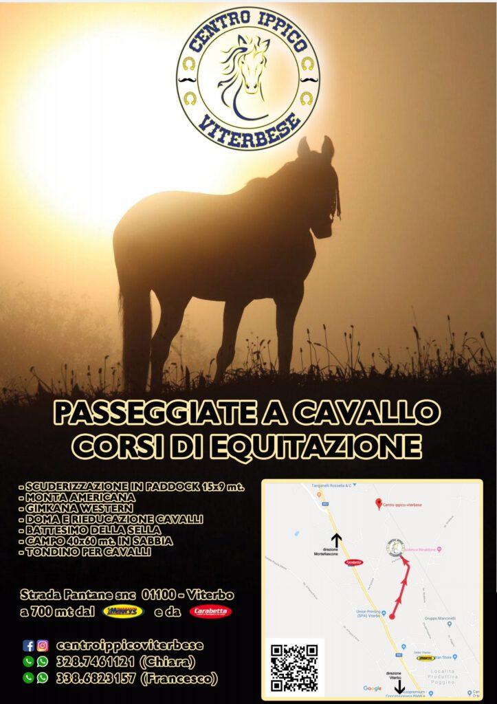 | WEEKEND | VITERBO - Passeggiate a cavallo e corsi di equitazione: al Centro Ippico Viterbese un fine settimana tra sport e natura!