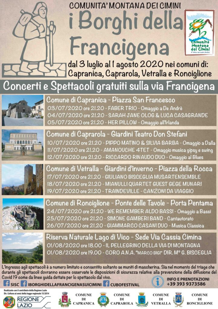   3 LUGLIO 2020   CAPRANICA - Omaggio a De André del Faber Folk Trio