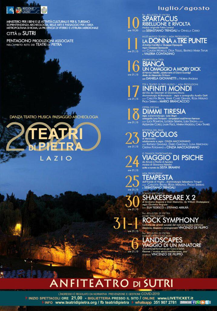| 10 LUGLIO 2020 | SUTRI - Teatri di Pietra, Spartacus apre la rassegna all'anfiteatro romano